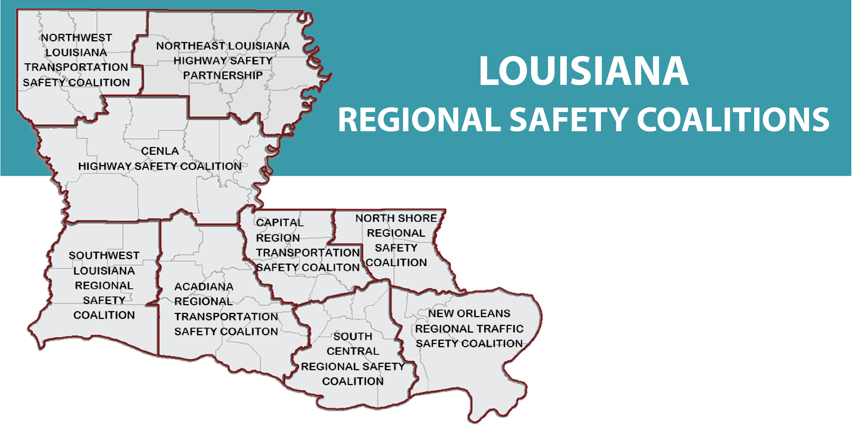 Louisiana Traffic Map.Destination Zero Deaths